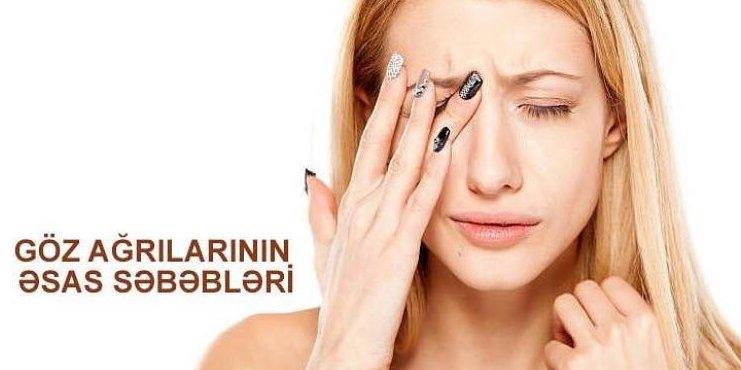 Göz ağrılarının əsas səbəbləri